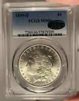 1899-O $1 PCGS MINT STATE 66 CAC MORGAN SILVER DOLLAR