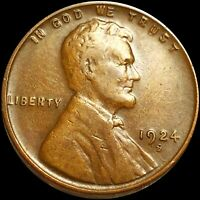 1924 D LINCOLN COPPER PENNY LIGHTLY CIRCULATED HIGHLY COLLEC