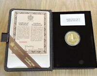 1982 ROYAL CANADIAN MINT 22K GOLD $100 PROOF COIN CONSTITUTI