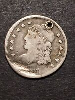 1837 CAPPED BUST HALF DIME 5C OBSOLETE US SILVER TYPE COIN H