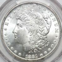 1881-CC MORGAN SILVER DOLLAR PCGS MINT STATE 65 VAM-2 DOUBLED 88 AND TOP REVERSE