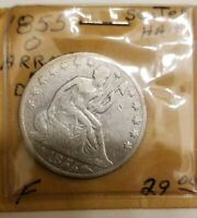 1855 O LIBERTY SEATED HALF DOLLAR W/ ARROWS AT THE DATE SILV