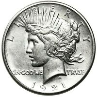 1921 PEACE DOLLAR HIGH RELIEF AVIDLY PURSUED KEY DATE FIRST