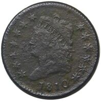 1810 LARGE CENT CLASSIC HEAD COLLECTOR COIN