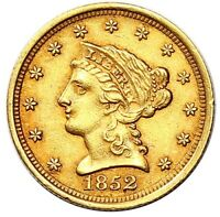 1852 QUARTER EAGLE $2.5 GOLD LIBERTY NICE INVESTMENT PIECE