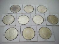 LOT OF  10  PEACE DOLLARS  AU TO BU  90  SILVER 1922 1923 19