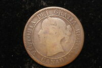 1858 CANADA. LARGE CENT.