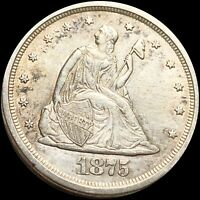 1875 S TWENTY CENTS NEARLY UNCIRCULATED HIGH END COLLECTIBLE SAN FRAN COIN NR