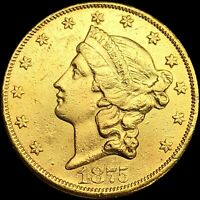 1875 CC LIBERTY $20 DOUBLE EAGLE GOLD NEARLY UNCIRCULATED LU