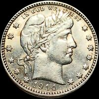 1914 SILVER BARBER QUARTER HIGHLY UNCIRCUALTED HIGH END SHIN
