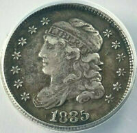1835 CAPPED BUST HALF DIME GRADED BY ANACS VF-25 DETAILS BENT-CORRODED