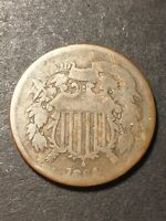 1864 2 CENT PIECE 2C TWO CENTS OBSOLETE US COLLECTIBLE TYPE