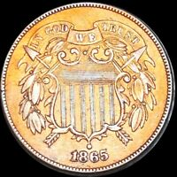 1865 2 CENT COPPER PIECE CLOSELY UNCIRCULATED AMAZING DETAIL