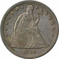 1846 LIBERTY SEATED SILVER DOLLAR CHOICE AU UNCERTIFIED