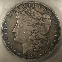 1899-S MORGAN DOLLAR ICG VF20