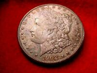 1902-0 MORGAN DOLLAR TERRIFIC BU RAINBOW TONED DOLLAR  5