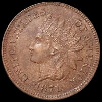 1871 INDIAN HEAD PENNY LOOKS UNCIRCULATED HIGH END PHILADELP