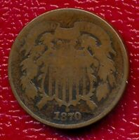 1870 TWO CENT PIECE LY CIRCULATED SHIPS FREE