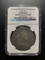 1799 DRAPED BUST DOLLAR VF DETAILS NGC S$1 VARIETY SILVER  FINE ONE DOLLAR