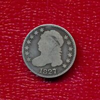 1827 CAPPED BUST SILVER DIME LY CIRCULATED SHIPS FREE