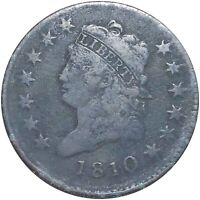 1810 CLASSIC HEAD LARGE CENT NICELY CIRCULATED HIGH END PHIL