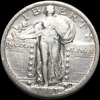 1921 STANDING QUARTER LIGHTLY CIRCULATED PHILLY HIGH END LIBERTY SILVER COIN NR