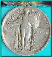 1920 STANDING LIBERTY    FINE COIN VALUES $50   BUY $27.00 SHIPS FREE