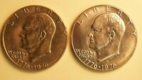 1976-P & 1976-D EISENHOWER DOLLARS -TYPE 1-  2 COIN PAIR