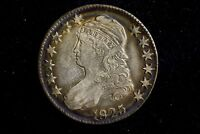 1825 CAPPED BUST HALF DOLLAR CHOICE XF WITH GREAT COLOR