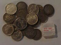 5 ROLLS 100 TOTAL MORGAN SILVER DOLLARS 1878-1904 SOME  COINS