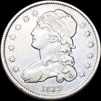 1832 CAPPED BUST QUARTER ABOUT UNCIRCULATED HIGH END PHILADE