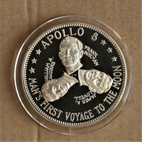 FRANKLIN MINT SPACE APOLLO 8 MOON FLIGHT MEDAL NCS 61    NUMBERED  2577