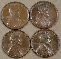 1918,20,29,30 LINCOLN WHEAT CENTS AU  BETTER