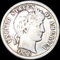 1895 S BARBER DIME LIGHTLY CIRCULATED SAN FRANCISCO SHINY 10
