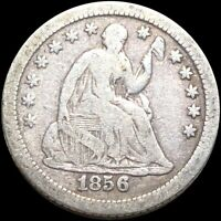 1856 O SEATED HALF DIME NICELY CIRCULATED NEW ORLEANS HIGH E