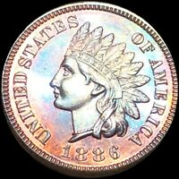 1886 INDIAN HEAD CENT PENNY PROOF    PERFECT PR GEMMY RED BU