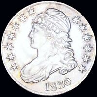 1830 CAPPED BUST HALF DOLLAR NEARLY UNCIRCULATED PHILADELPHI