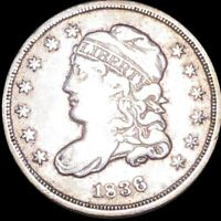 1836 CAPPED BUST HALF DIME LIGHTLY CIRCULATED PHILADELPHIA 5