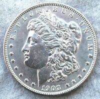 1903-P MORGAN SILVER DOLLARBRILLIANT AND. HIGH GRADE   SHIPS FREE