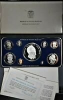1976 REPUBLIC OF PANAMA STERLING SILVER PROOF SET 9 COINS W/