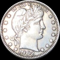 1902 O BARBER QUARTER APPEARS UNCIRCULATED NEW ORLEANS MS BU