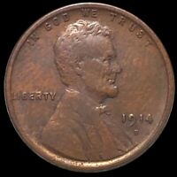 1914 D LINCOLN WHEAT PENNY LIGHTLY CIRCULATED DENVER HIGH EN