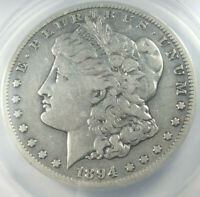 1894-S MORGAN SILVER DOLLAR GRADED BY ANACS AS A  VF-20 DETAILS-CLEANED