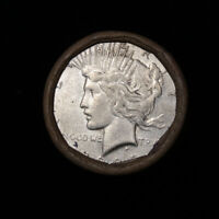 FULL SOLID DATE 1925-S PEACE SILVER DOLLAR ROLL  20 COINS