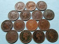CLEARANCE LOT OF 15 CANADA QUEEN VICTORIA LARGE CENTS 1859