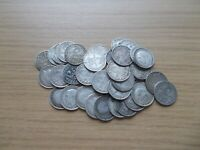 40 SILVER THREE PENCE COINS   ALL BEFORE 1920