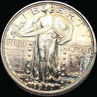 1917 S TY1 STANDING QUARTER HIGHLY UNCIRCULATED SAN FRAN MS