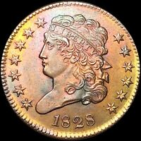 1828 CLASSIC HEAD HALF CENT APPEARS UNCIRCULATED PHILADELPHI