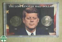 THE LOST KENNEDY HALF DOLLAR 2 COIN SET IN HOLDER  2002 & 20