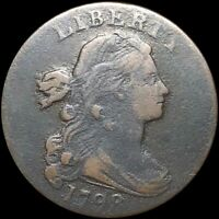 1798 DRAPED BUST LARGE CENT LIGHTLY CIRCULATED PHILADELPHIA AU 1C COPPER COIN NR